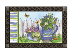 Painted Watering Can MatMates Decorative Doormat