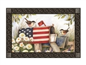 Patriotic Mailbox MatMates Decorative Doormat