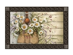 Fresh Picked Daisies MatMates Decorative Doormat