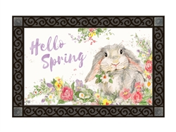 Hello Bunny MatMates Decorative Doormat
