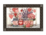 Filled With Love MatMates Decorative Doormat