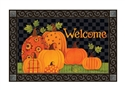 Patterned Pumpkins MatMates Decorative Doormat