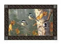 Chickadee Trio MatMates Decorative Doormat