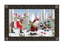 Winter Fun Snowman MatMates Decorative Doormat