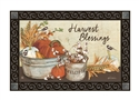 Farmhouse Pumpkins MatMates Decorative Doormat