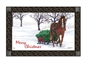 Horse Drawn Sled MatMates Decorative Doormat
