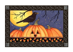 Halloween Crow MatMates Decorative Doormat