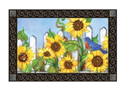 Sunflower Gate MatMates Decorative Doormat