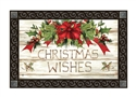 Christmas Wishes MatMates Decorative Doormat