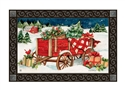 Christmas Farm Wagon MatMates Decorative Doormat