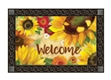 Yellow Sunflower MatMates Decorative Doormat