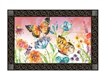 Butterfly Blossoms MatMates Decorative Doormat