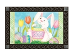 Easter Bunny's Here MatMates Decorative Doormat