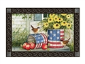 Patriotic Planters MatMates Decorative Doormat