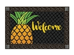 Cropped Pineapple MatMates Decorative Doormat