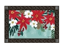 Poinsettia Bloom MatMates Decorative Doormat