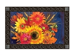 Fall Bushel Basket MatMates Decorative Doormat