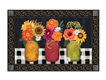Autumn Blooms MatMates Decorative Doormat