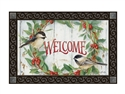 Chickadee Wreath MatMates Decorative Doormat
