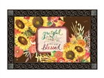 Grateful Bouquet MatMates Decorative Doormat