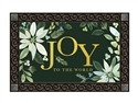 Poinsettia Joy MatMates Decorative Doormat