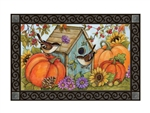 Autumn Birdhouse MatMates Decorative Doormat