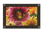 Sunflower Butterfly MatMates Decorative Doormat