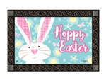 Gingham Bunny MatMates Decorative Doormat