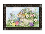 Easter Bunny Basket MatMates Decorative Doormat