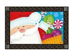 Santa's Here MatMates Decorative Doormat