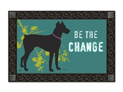 Magnet Works Be the Change MatMates Decorative Doormat pet dog