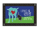 Love is Great MatMates Decorative Doormat