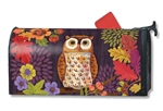Floral Owl Large MailWraps Mailbox Cover