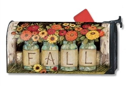 Fall Mason Jars Large MailWraps Magnetic Mailbox Cover