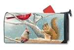 Winter Snacktime Large MailWraps Mailbox Cover