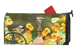 Chickadee Fence Post Large Mail Wraps Mailbox Cover