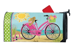 Morning Beach Ride Large MailWraps Magnetic Mailbox Cover