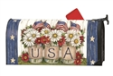 USA Mason Jar Large Mail Wraps Mailbox Cover
