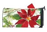 Pretty Poinsettia Large MailWraps Magnetic Mailbox