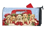 Bringing Home the Puppies Large MailWraps Magnetic Mailbox Cover
