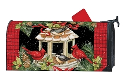 Winter Dinner Large MailWraps Magnetic Mailbox Cover