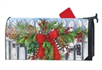 Holiday Garland Large MailWraps Magnetic Mailbox Cover