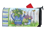 Painted Watering Can Large MailWraps Magnetic Mailbox Cover