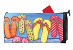 Favorite Flip Flops Large MailWraps Magnetic Mailbox Cover