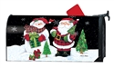 Buffalo Check Snowman Large MailWraps Magnetic Mailbox Cover
