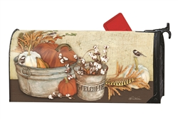 Farmhouse Pumpkins Large MailWraps Magnetic Mailbox Cover