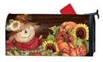 Autumn Scarecrow Large MailWraps Magnetic Mailbox Cover