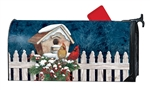 Winter Home Cardinals Large MailWraps Magnetic Mailbox Cover
