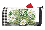 Farmhouse Daisies Large MailWraps Magnetic Mailbox Cover