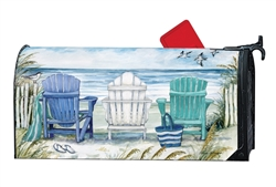 Ocean View Large MailWraps Magnetic Mailbox Cover